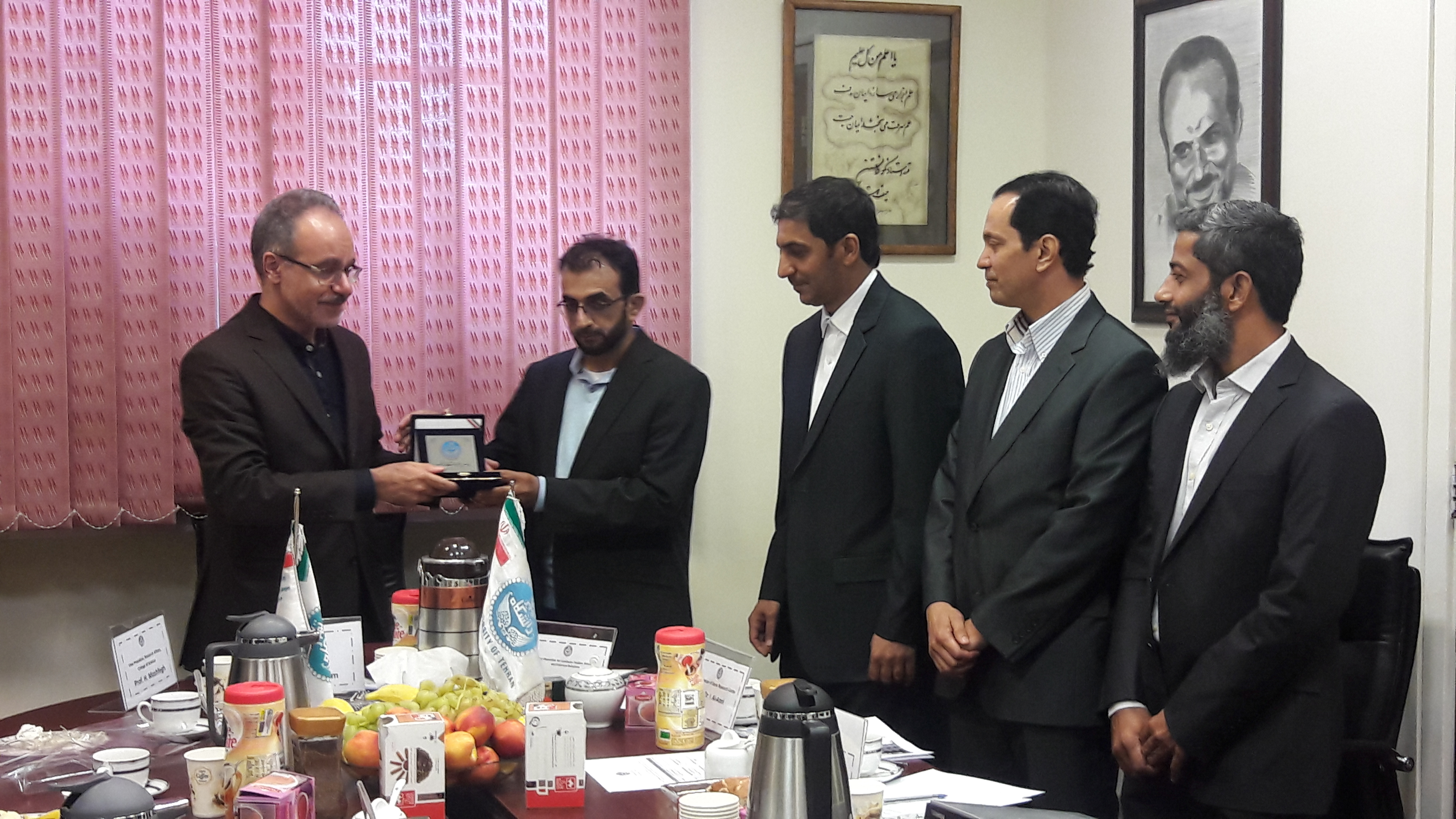 Meeting of a Delegation from the University of Nizwa from College of Science